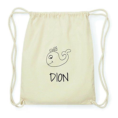 JOllipets DION Hipster Turnbeutel Tasche Rucksack aus Baumwolle Design: Wal