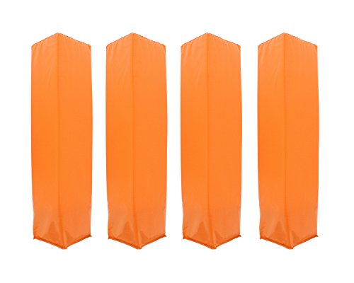 Get Out! Weighted Foam Football Pylon Marking Cone 4-Pack - Orange Football/Soccer Endzone Field Marker for Sport Drill Practice