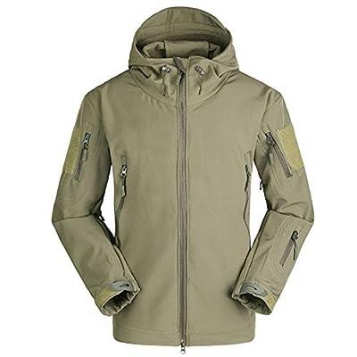 Teresamoon Men Jacket Coat Jacket Winter Waterproof Soft Shell Jackets Windbreaker Clothes