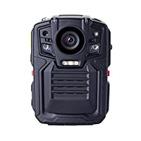 Angin-Tech Infrared Night Vision HD 1080P Police Body Worn Video Camera Security IR Cam Built In GPS Support Motion Detection + 32GB TF Card (Includes 32GB TF card)