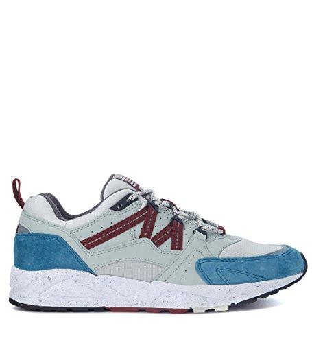 Karhu Sneaker Fusion 2.0 Aus Leder Eisfarbe und Wildleder Hellblau Bleu