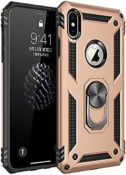 Best ST Coque iPhone XS Max, [Antichoc Armor] Double Couche Hybride Ultra Armure Housse Étui de Protection Anti-Choc Bumper Cover avec Stand pour ...