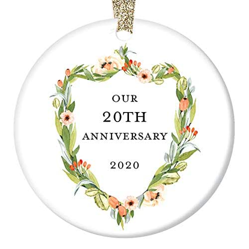 20 Year Wedding Anniversary Gift For Wife: Amazon.com: 20th Anniversary Gift 2020 Christmas Ornament