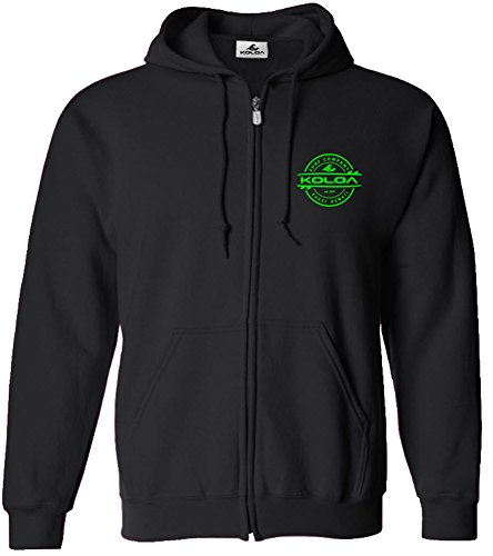 (Joe's USA Koloa Thruster Surfboards Logo Full Zipper Hoodie-Black/g-XL)