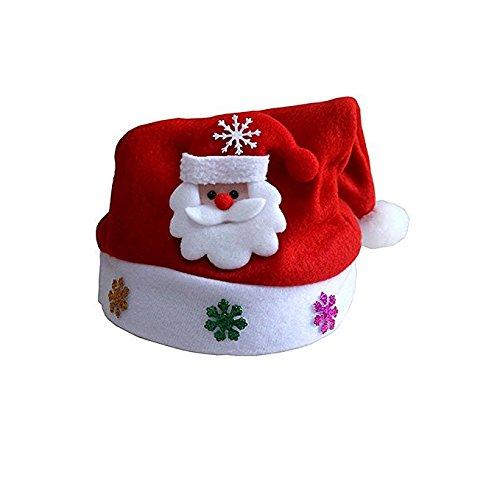 WD Christmas Decoration Hat Santa Hat 3 pack for Adults Kids,Santa Claus
