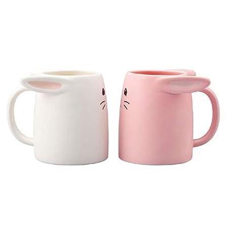 qwdf - Juego de 2 Tazas de cerámica para Desayuno, diseño de ...