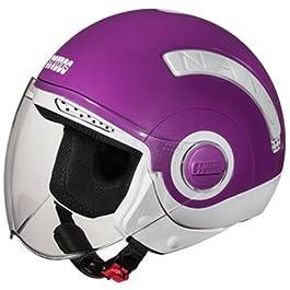 Studds Nano Open Face Helmet (White and Purple, S)
