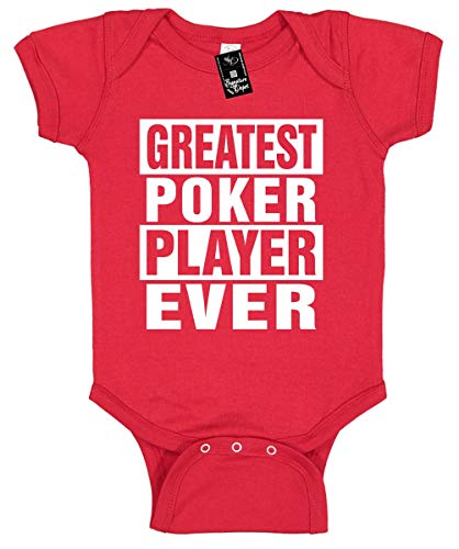 Signature Depot Infant Funny Baby Onesie Unisex T-Shirt Size 24 (Greatest Poker Player Ever)