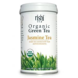Rishi Tea Organic Green Jasmine Tea Loose Tea, 1.94 Oz Box (Pack of 3)