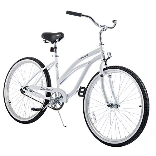 Murtisol Cruiser Bike 26'' Beach Bike Cruiser Bicycle City Bike Women's Bike Road Bike w/Single Speed,Steel Frame,Adjustable Seat,Pedal-Backwards Brake, ()