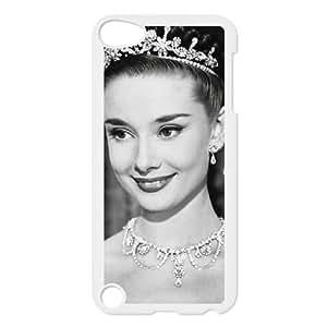 G8W02 Audrey Hepburn H4D3CO funda iPod Touch 5 funda la cubierta del caso PK2BSC4YY blanco