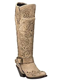 Black Star ANDROMEDA (Bone) Women's Western Fashion Boots