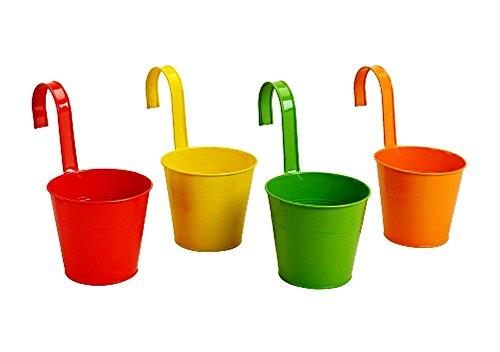 Hängetöpfe 4er Set Blumentopf Ø 16cm in 4 verschiedenen Farben Übertopf