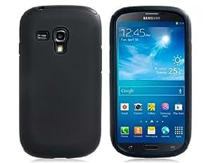 TR 2-en-1 de silicona y Mate de plástico para Samsung Galaxy S3 Mini I8190 (Negro)