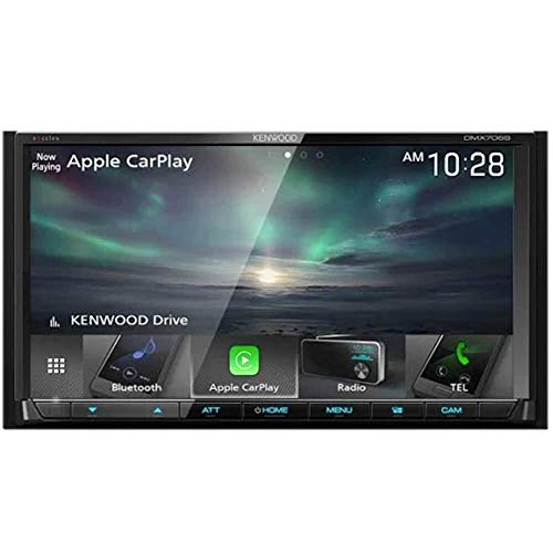 "Kenwood DMX7706S 6.95"" Digital Media Receiver w/Bluetooth, Apple CarPlay and Android Auto"