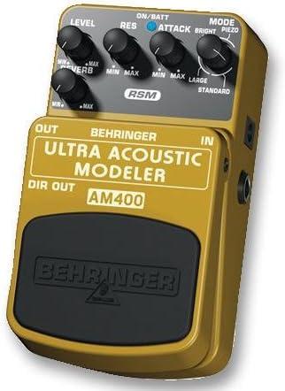 Behringer AM400 Pedal de guitarra acústica Modler [1], revestido ...