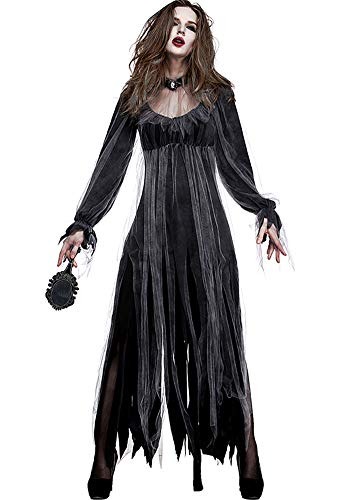 Tutu Dreams Women Halloween Scary Corpse Bride Cosplay Costumes Outfit (X-Large) -