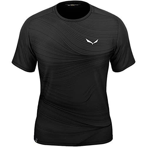 Salewa Seceda Dry M T-Shirt für Herren, Herren, Unterhemd, 00-0000028069, Verdunkelung (Black Out), XL