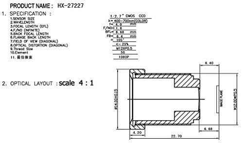 Arducam 5 Megapixels OV5647 Sensor Camera Module with M12x0