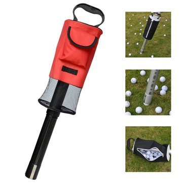 Team Sport Golf - Portable Golf Picker Pick-Ups Retrievers Pocket Storage Bag Scooping Device - 1 x Golf Ball Picker (balls not included)