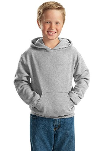 Jerzees Youth 8 oz., 50/50 NuBlend Fleece Pullover Hood, Small, ASH