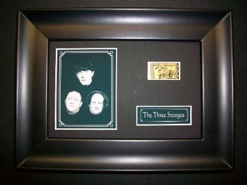 THREE STOOGES Framed Film Cell Display Collectible Movie Memorabilia