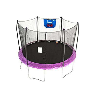 Skywalker Trampolines 12-Foot Jump N' Dunk Trampoline with Enclosure Net – Added Safety Features – Meets or Exceeds ASTM – Made to Last – Basketball Trampoline