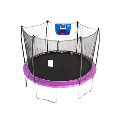 Skywalker Trampolines 12-Feet Jump N' Dunk Trampoline with Safety...