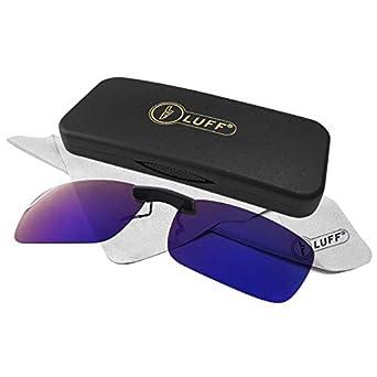 LUFF Polarizado Clip Unisex en Gafas de Sol para Anteojos Recetados-Buen Estilo de Clip Gafas de Sol para la Miopía Gafas al Aire ...