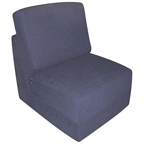 Fun Furnishings Teen Chair, Navy Micro Suede - Microsuede Chair Sleeper