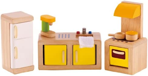 picture of Hape Wooden Doll House Furniture Kitchen Set - Accessories