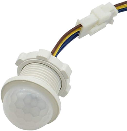 PURATEN - Sensor de Movimiento por Infrarrojos, Detector de Movimiento por Infrarrojos, iluminación Interior, Interruptor PIR, LED Sensible: Amazon.es: Hogar