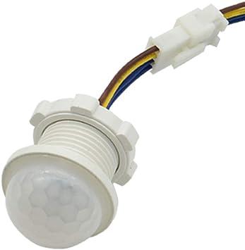 Detector de iluminación del hogar PIR de ahorro de energía Led sensor de movimiento Sensible Interruptor de retardo de tiempo: Amazon.es: Bricolaje y herramientas