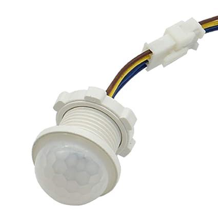Sensor de movimiento PIR de luz infrarroja LED ajustable con sensor de movimiento y detector de