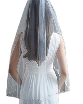 Passat Rose Gold Beaded Edge Wedding Veil Blush Beaded Bridal Veil 123