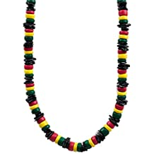 Barbra Collection Rasta Rose Clam Shell Necklace