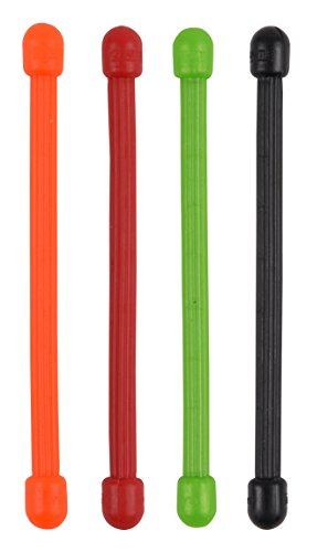 Nite Ize Reusable Gear Tie, 3-Inch Rubber Twist Tie, Assorted Colors (Pack of 4)