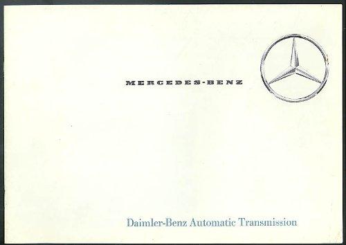 - Mercedes-Benz Daimler-Benz Automatic Transmission sales brohcure 1962