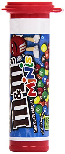 M&M's Milk Chocolate Minis Candy, 1.08-Ounce Tubes (Pack of 24) ()
