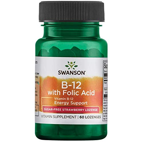 (Swanson Vitamin B-12 with Folic Acid 60 Tabs)
