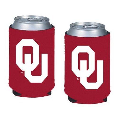 - NCAA Oklahoma - Neoprene Pocket Coolies (2) | OU Sooners Collapsible Beverage Insulators - Set of 2