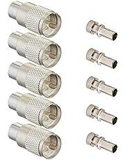 Ancable Zilveren UHF/PL-259 Mannelijke Soldeer Coax Connector voor 50ohm Laag Verlies RG-8x RG-213 RG-214 9913 RF Kabel Pack van 5