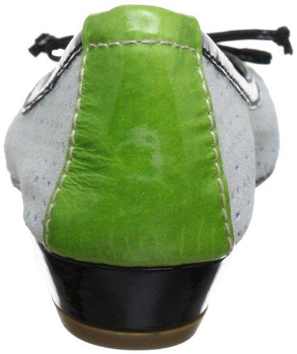 CAFèNOIR DB601 - Bailarinas de cuero para mujer Verde (Grün (554 MULTIVERDE 554 MULTIVERDE))