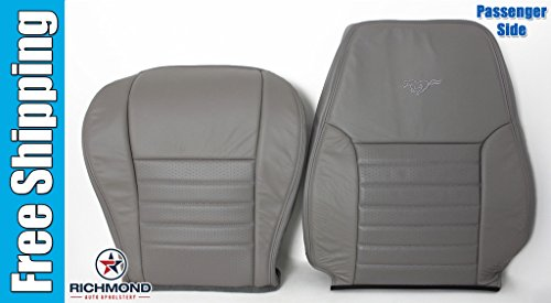 Richmond Auto Upholstery - Passenger Side Complete Replacement Leather Seat Covers, Gray (Compatible with 2000 Ford Mustang GT 5-Speed) ()