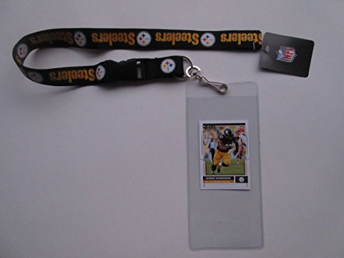 PITTSBURGH STEELERS LANYARD AND TICKET HOLDER WITH COLLECTIBLE PLAYER CARD