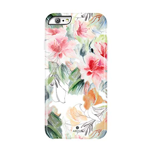 iPhone 6/6s case Floral, Akna Collection High Impact Flexible Silicon Case for Both iPhone 6 & iPhone 6s [Watercolor Lily] (940-U.S)