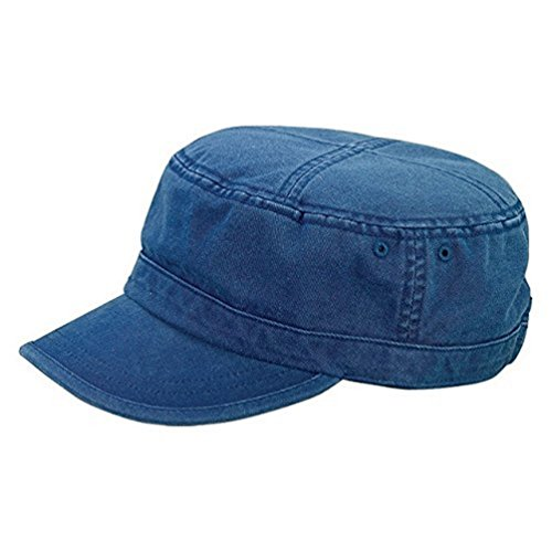 Vintage Fatigue BDU Flat Top Cap (Navy)