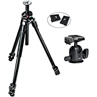 Manfrotto MT290XTA3US 290 Xtra 3-Sec Aluminum Tripod Kit With 496RC2 Professional Tripod Ball Head with Two Replacement Quick Release Plates for the RC2 Rapid Connect Adapter