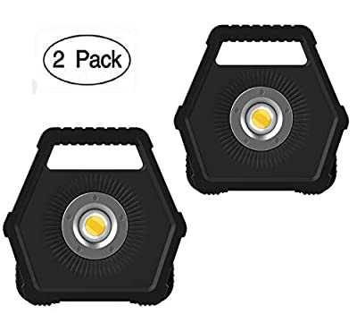 NextLED 1200 Lumens LED Work Light, Floodlight, Solid Cast Aluminum Housing, Battery Powered, 8 Hours Max Run Time, IP-54 Water Proof, Auto Repairing, Outdoor, Camping, Rotating Stand - 2 Pack