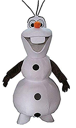 100% Real Photos Frozen Olaf Snowman Mascot Costume Adult Fancy Party Costume ()